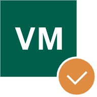 Image of a Virtual Machine with a tick to signify it has been checked